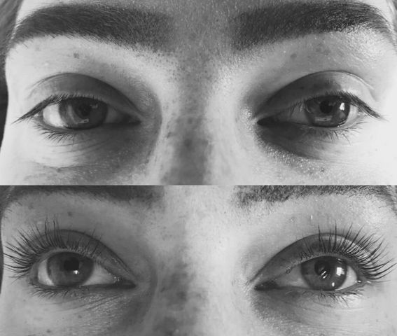 resultaat wimperlifting wimpersalon djessie strijen